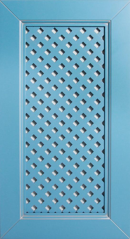 Фасад Без шпона с термошвом голубой