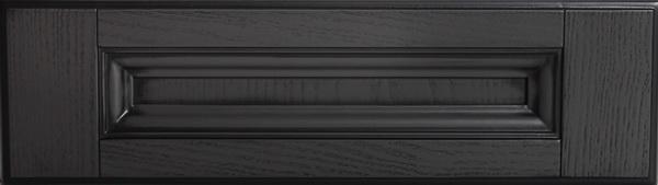 Шпон радиусный графит + патина черная
