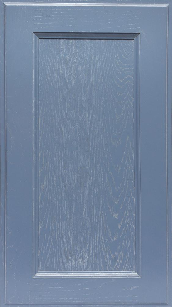 Фасад Массив Милан эмаль 5014 + патина серебро (ясень)